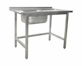 Aanvoertafel / Afvoertafel Voor Vaatwasser Links, 1 Bak, 1600 Mm Saro 700-3005L
