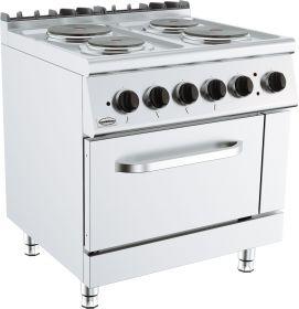 Elektrisch Fornuis Base 700 Kooktafel 4 Pl. El. Oven Combisteel 7178.0435