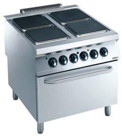 Elektrisch Fornuis Pro 900 El. 4 Pl. Met Oven Combisteel 7488.0595