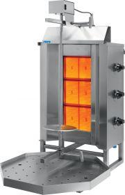 Gas Doner kebab / gyros grill model SIRUS Saro 126-1300