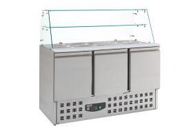 Gekoelde Saladette Glasopstand 3 Drs Combisteel 7950.0405