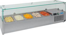 Gekoelde table-top display Opzet koelvitrine VRX 1400/330 Saro 323-1135