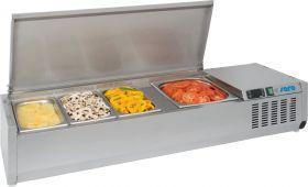 Gekoelde table-top display Opzet koelvitrine VRX 1400 S/S Saro 323-3140