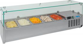 Gekoelde table-top display Opzet koelvitrine VRX 1600/380 Saro 323-1035