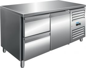 Gekoelde werkbank Koeltafel incl. 2 laden set Model KYLJA 2110 TN Saro 323-10701