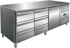 Gekoelde werkbank Koeltafel incl. set van 2 x 3 laden Model KYLJA 3150 TN Saro 323-10719