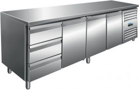 Gekoelde werkbank Koeltafel incl. set van 2 x 3 laden Model KYLJA 4130 TN Saro 323-10722