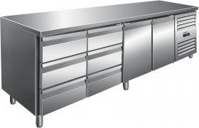 Gekoelde werkbank Koeltafel incl. set van 2 x 3 laden Model KYLJA 4150 TN Saro 323-10725