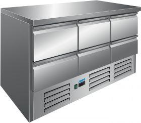 Gekoelde werkbank Koeltafel model VIVIA S 903 S/S TOP 6 x 1/2 Saro 323-10041