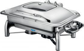 Inductie Chafing Dish met zelfsluiting deksel, 1/1 GN Model RAINER Saro 213-1200