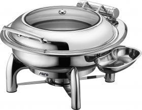 Inductie Chafing Dish Met Zelfsluiting Deksel, Rond Model Jessie Saro 213-1210