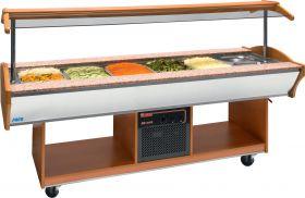 Koel buffet eiland model MARYAM 6 walnoot Saro 366-3020