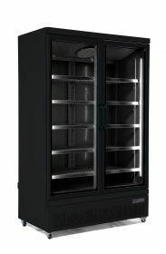 Koelkast 2 Glasdeuren Zwart Jde-1000R Bl Combisteel 7455.2230