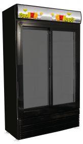 Koelkast Schuif Glasdeuren Bez-780 Sl Zwart Combisteel 7455.1398