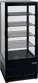 Koelvitrine met luchtventilatie Model SC 100 zwart Saro 330-1013