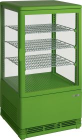 Mini-koelvitrine 70 liter met verlichting model SC 70 groen Saro 330-10041