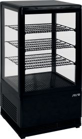 Mini-koelvitrine 70 liter met verlichtingmodel SC 70 zwart Saro 330-10051