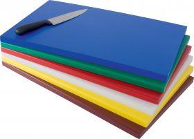 Polyethyleen snijplank met anti-slip voeten wit Saro 387-1000