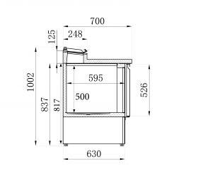 Saladette 2 Deuren 5X1/6Gn Pan Combisteel 7950.0095