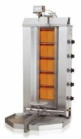 Sous-Vide Koker Gyros Grill Gas Motor Boven 5 Hittezones Combisteel 7049.0015