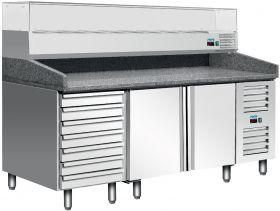Voorbereidingstafel / Pizzatafel Pizzastation MARGA PZ 2610 TN Saro 323-10921