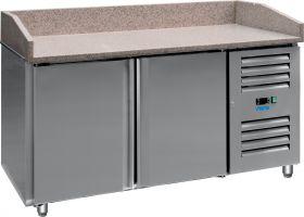 Voorbereidingstafel / Pizzatafel Pizzastation met ventilator PZ 2600 TN Saro 323-3134