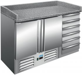 Voorbereidingstafel / Pizzatafel Pizzastation Model PZ 9001 Saro 323-1515