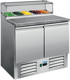 Voorbereidingstafel / Pizzatafel Pizzatafel met glazen top PS 200 G Saro 323-1101