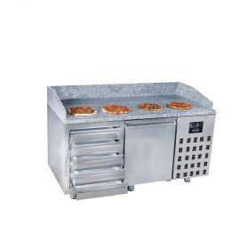 Voorbereidingstafel / Pizzatafel Pizzawerkbank 1 Deur 5 Laden Combisteel 7489.5230