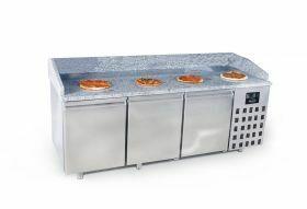Voorbereidingstafel / Pizzatafel Pizzawerkbank 3 Deuren Combisteel 7489.5225