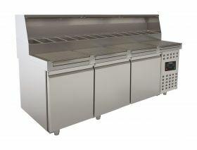 Voorbereidingstafel / Pizzatafel Pizzawerkbank 3 Deuren Combisteel 7489.5305