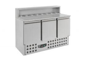 Voorbereidingstafel / Pizzatafel Pizzawerkbank 3 Deuren Combisteel 7950.0065