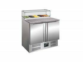 Voorbereidingstafel / Pizzatafel Pizzawerkbank Met Glasvitrine Model Ps 200 G Saro 323-1101