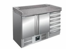 Voorbereidingstafel / Pizzatafel Pizzawerkbank Model Pz 9001 Saro 323-1515
