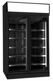 Vrieskast 2 Glasdeuren Zwart Ins-1000F Bl Combisteel 7455.2425